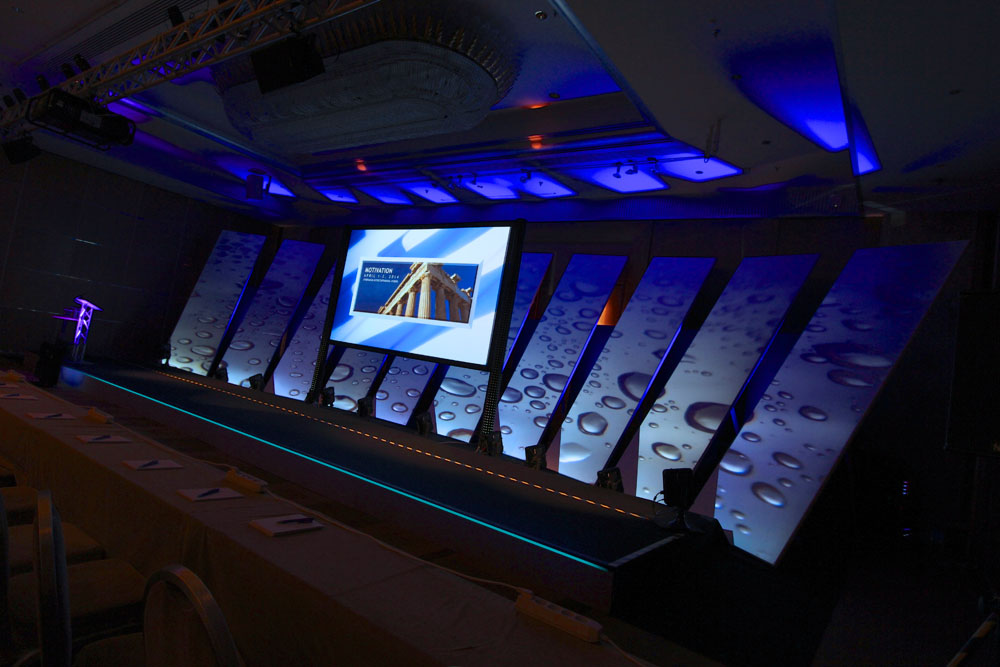 Athens conference — projected stage set design - Multimedia Plus